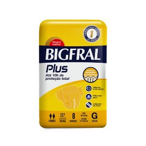 Fralda Geriátrica Bigfral Plus Grande - 08 Fraldas