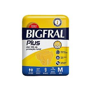 Fralda Geriátrica Bigfral Plus Média, com 09 Unidades