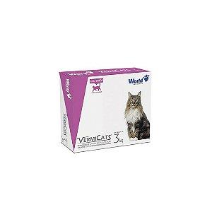 VermiCats 600mg, Vermífugo para Gatos Blister (3 kg) - 04 comprimidos