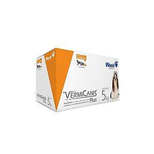 VermiCanis 400mg, Vermífugo para Cães até 5 Kg Display com 10 Blisteres - 40 comprimidos.