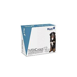IverCanis 12mg Cães até 60kg - Display com 12