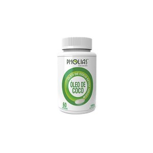 Óleo de Coco 1000 mg com 60 cápsulas, Pholias - Unidade