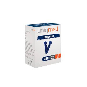 Lancetas Ultra Fina de 30g da Uniqmed - Caixa 100 Unidades