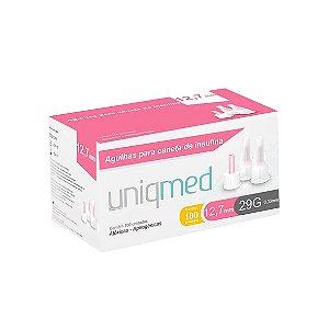 Agulhas para Caneta de Insulina 12,7mm 29G da Uniqmed - Caixa 100 Unidades