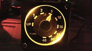 Indicador de Flap Boeing 737 com Sistema Integrado  com Simulador