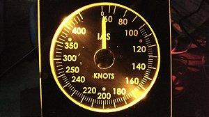 Instrumento (Gauge) Velocímetro Boeing 737 IAS com Software incluso pronto para uso.