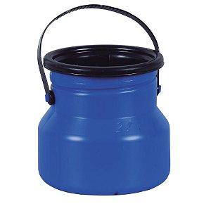 Vasilhame para Transporte de Leite 02 litros Azul