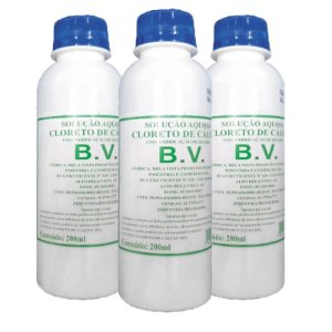 Kit com 03 Cloreto de Cálcio BV 200 ML