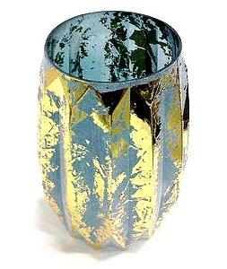Vaso azul em vidro