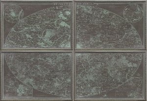 Quadro mapa mundi