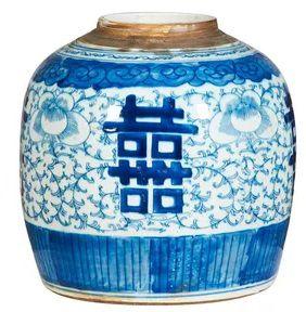 Pote cerâmica azul