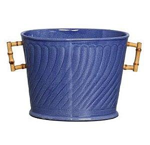 Porta Champagne Azul