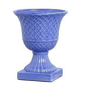Vaso Triliça azul