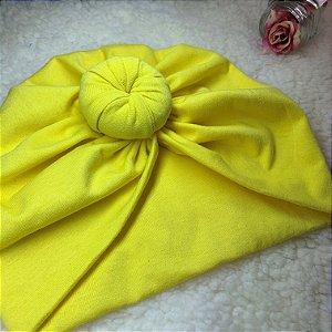Turbante Fashion Malha Amarelo