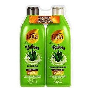 KIT Shampoo +Condicionador 340ml Babosa  Gota Dourada