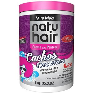 Natu Hair Cachos é tudo de bom - creme de pentear 1 Kg