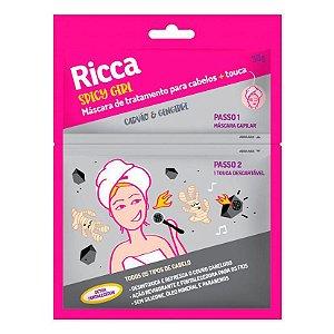 Máscara Capilar Ricca + touca - carvão e gengibre