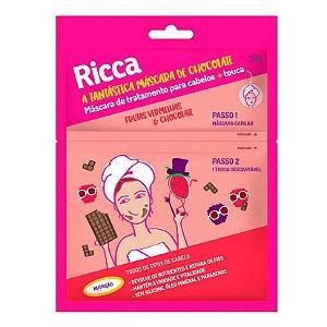 Máscara Capilar Ricca + touca- frutas vermelhas/chocolate