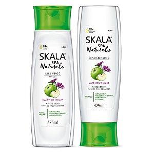 Skala Spa Naturals (shampoo e condiconador) - Maça Verde e Malva