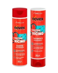 KIT Doctor Rícino Shampoo e condicionador - NOVEX  300ML