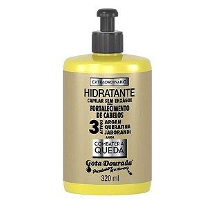Extraordinário hidratante capilar (sem enxágue) combate queda - Gota Dourada