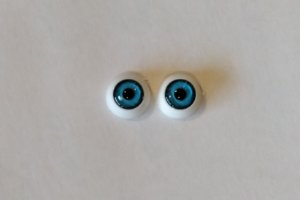Olhos azuis sem arame - 12mm