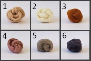 Meada de Lã Corriedale - 25g - Neutras