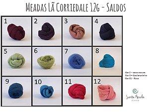 Meada de Lã Corriedale - 12g - Saldos