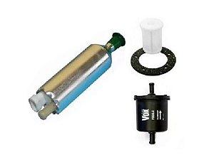 Bomba de Combustivel Externa Flex + Filtro Flex + Pre Filtro Flex