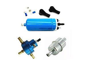 Bomba de Combustivel Externa flex + Dosador Hp pequeno + Pré Filtro Alta Vazão