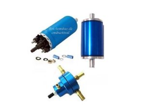 Bomba de Combustivel Externa Flex + Dosador Hp Pequeno + Filtro Lavavel