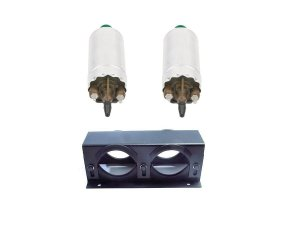 Bomba de Combustivel Externa Flex 8 bar c/ 2 e Suporte Duplo