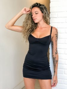 mini vestido   preto