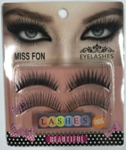 Cílios Post Eyelashes Cartela C/2 Pares