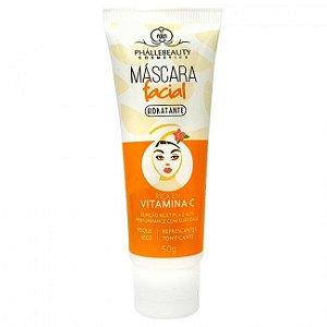 Máscara Facial Hidratante Vitamina C Phállebeauty