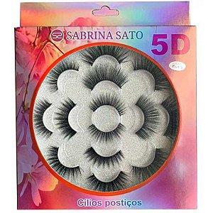 Cílios Postiços 5d Sabrina Sato Cartela Com 7 Pares