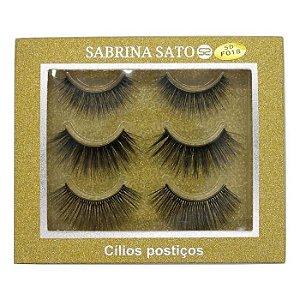 Cílios Postiços Suave Natural 3 Pares + Cola - Sabrina Sato - Ref 723