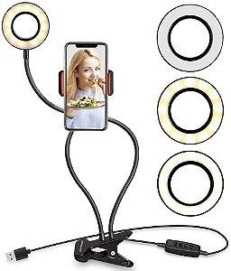 Ring Light Com Suporte Para Celular Live Stream