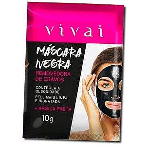 Máscara Facial Negra de Argila Removedora de Cravos Vivai 10g