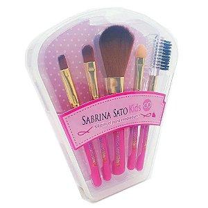 Kit Com 5 Pincéis Kids Sabrina Sato