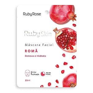 Máscara Facial De Tecido Romã Skin Ruby Rose
