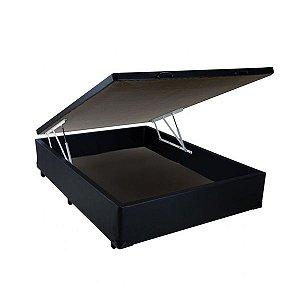 Base Cama Box Baú Casal 138 x 188 x 43 Preto