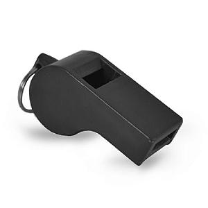 Apito de Plástico 55mm - Preto