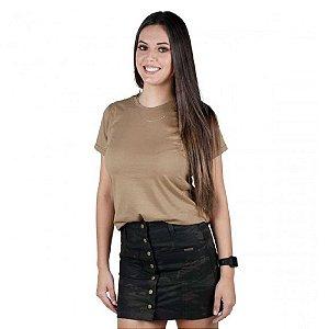 Camiseta Feminina Soldier Bélica - Coyote