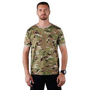 Camiseta Masculina Soldier Bélica Camuflada Multicam