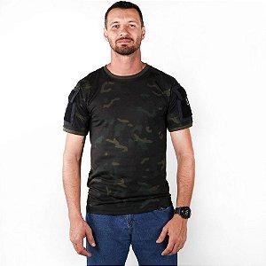 Camiseta Tática Masculina Ranger Bélica Multicam Black