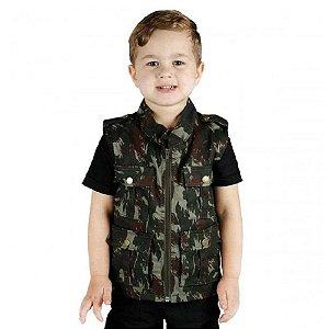 Colete Infantil Army Camuflado EB (Exército Brasileiro) Treme Terra