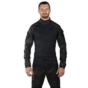 Combat Shirt Bélica Camuflada Multicam Black