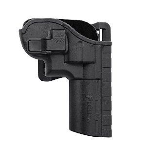 Coldre Revólver I Em Polímero C/ Adaptador de Cintura Destro Bélica - Preto