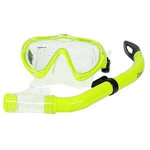 Kit de Mergulho Infantil Máscara Snorkel Oasis Mormaii - Verde